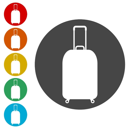 Luggage symbol, Bag tourist web icon
