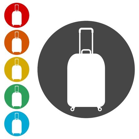 Luggage symbol, Bag tourist web icon