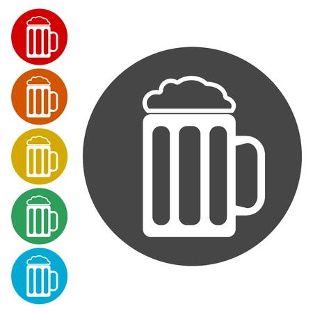 beers: Glass of beer icon,Vector beer icon illustration.