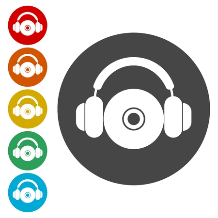 CD or DVD icon, Compact disk symbol