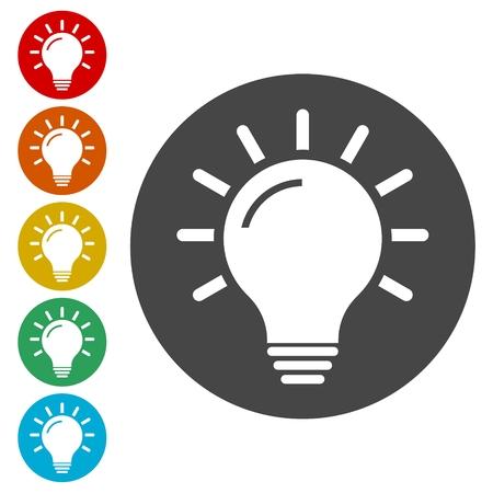 Light Bulb icon, Light Bulb icon vector