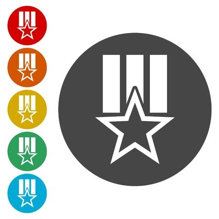 quality guarantee: Order star Icon Vector, Vector Award icon Illustration