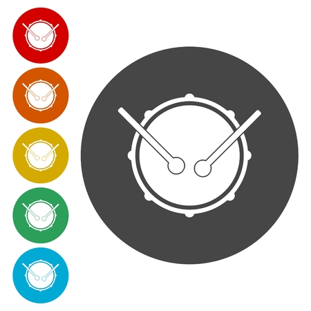 drumming: Drum music instrument icon, Snare Drum Icon Illustration