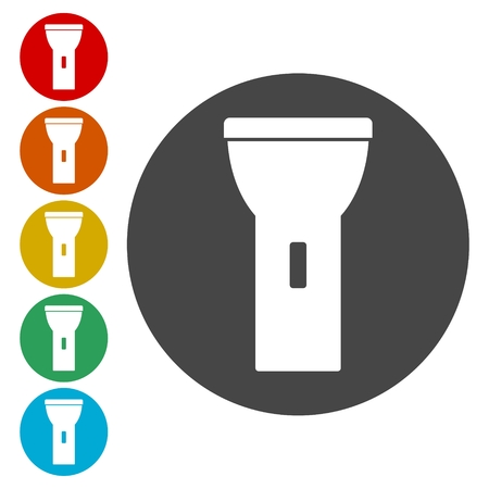 electric torch: Flashlight icon Vector illustration.