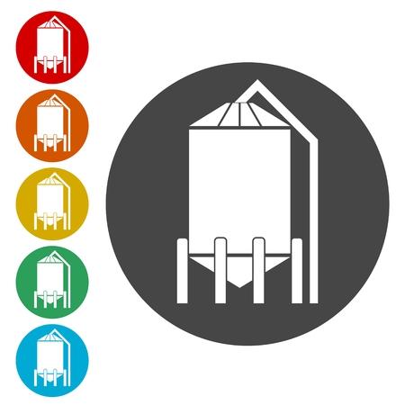 Silos storage icon
