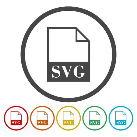 Set of colorful SVG file icon.