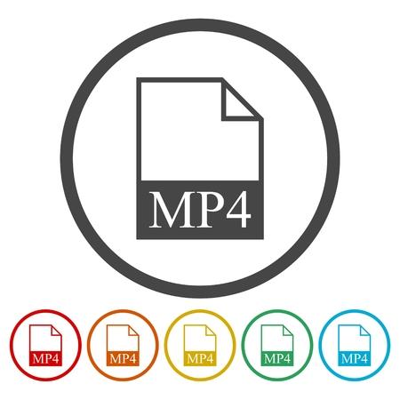 mpg: MP4 file icon.