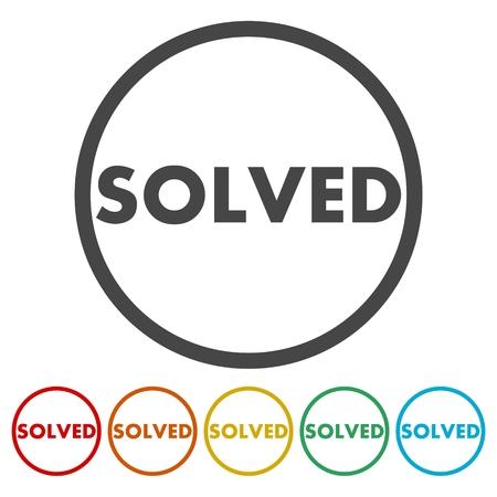 solved: Solved icon vector illustration.