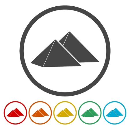 great: The pyramids at Giza in Egypt, pyramid complex icon
