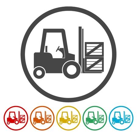 Forklift icon Vector illustration.
