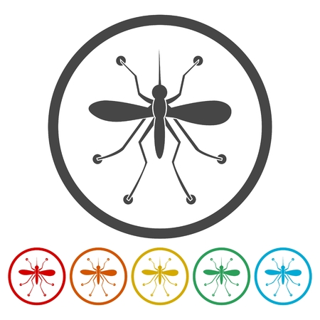Mosquito simple icon Illustration