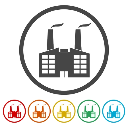 Factory icon Vector illustration.