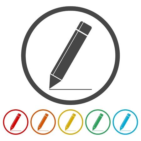 Pencil icon, vector illustration icon