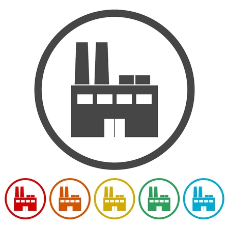 Factory icon Stock Vector - 85714222