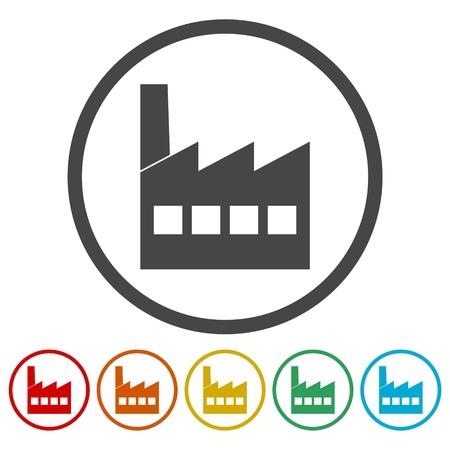 Factory icon Stock Vector - 85714582