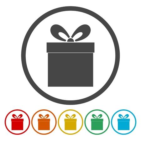 holiday shopping: Gift Box icons set
