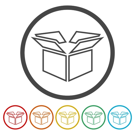 festive occasions: Gift box icons set Illustration