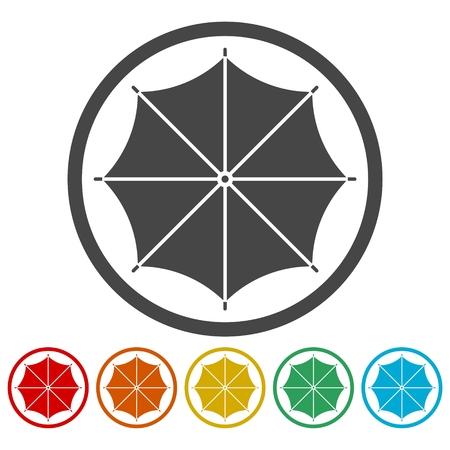 Umbrella icons set Vector illustration.