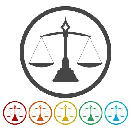 사법 저울 아이콘 설정