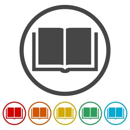 videobook: Book Icons set vector illustration