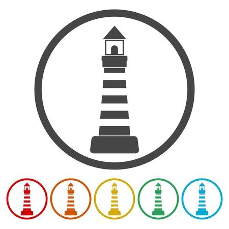 Lighthouse icons set