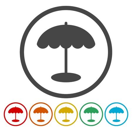 Parasol icons set Illustration