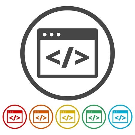 Coding icons set