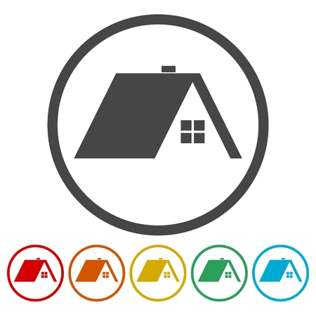 real estate sold: Home roof icon