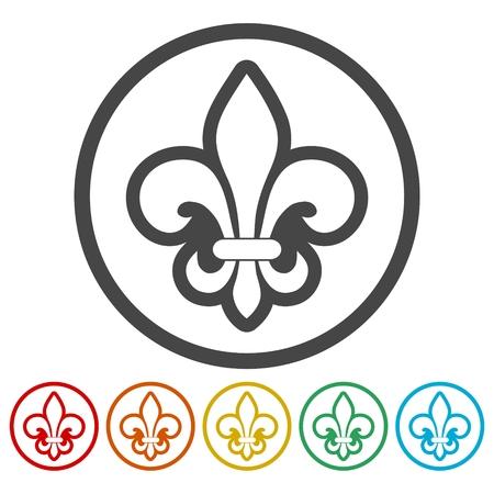 Fleur de lis icons set Stock Vector - 86951421