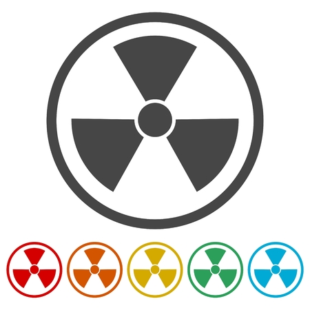 uranium: Radiation symbol set