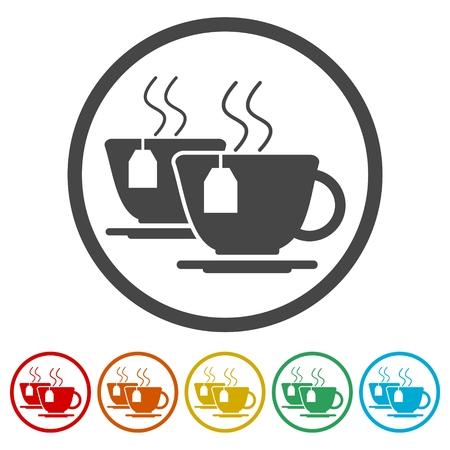 Coffee cup icons set Фото со стока - 86951424