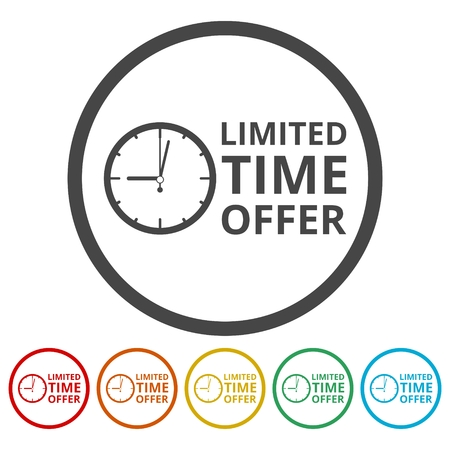 Limited time offer icons set Stock Vector - 86902314