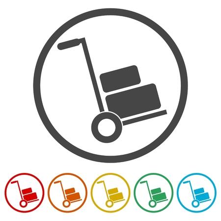 Ensemble d'icônes Handcart Banque d'images - 87045420