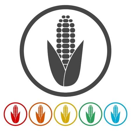 Ear Of Corn Corn Symbol Set Royalty Free Cliparts Vectors And