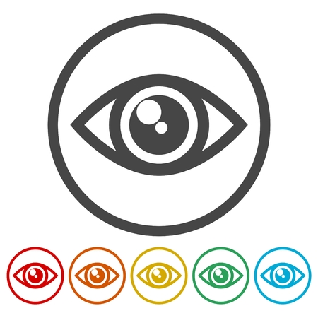 Simple eye icon, eye logo
