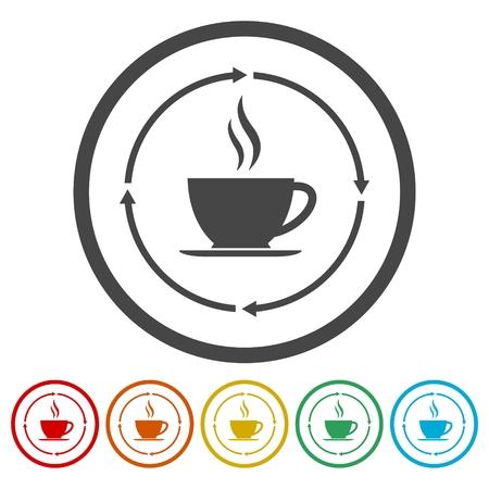Coffee cup icons set Фото со стока - 87329386
