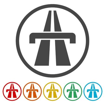 Highway icons set
