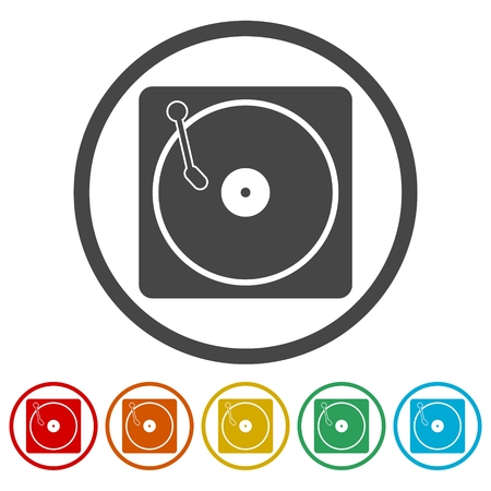 grooves: Vinyl icon, Vector musical plate icon