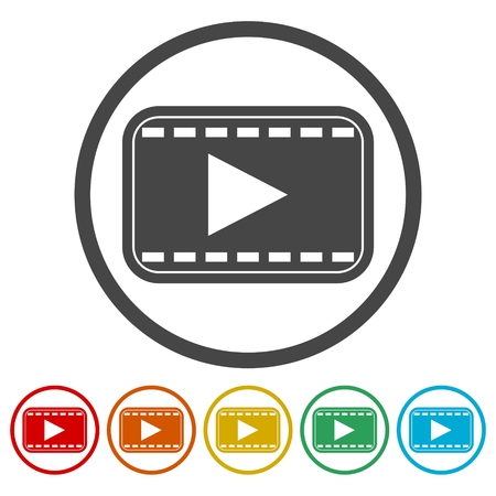 camera film: Video play icon