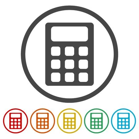 Calculator icon, vector illustration Illustration