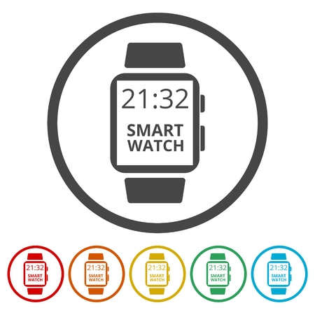 smartphone icon: Smart watch - vector illustration