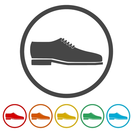 Mens dress shoe vector isolated