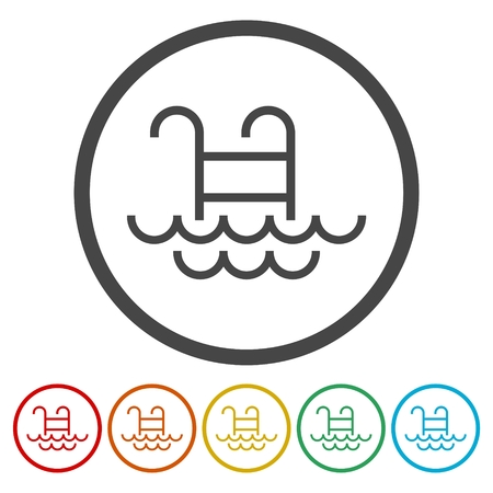 simple: Pool vector icon isolated