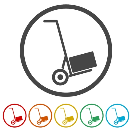 Handcart icon, vector icon Illustration