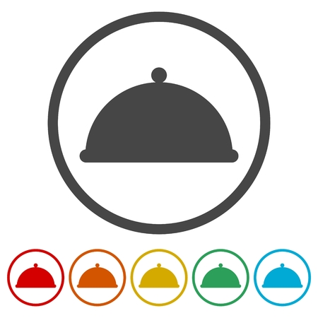 freshly: Food cover - vector icon