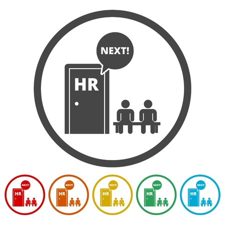 Human resources sign icon