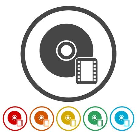 Icona CD o DVD, simbolo disco compatto Archivio Fotografico - 87765381