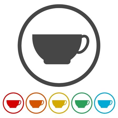 Simple Coffee cup icon Vector illustration.