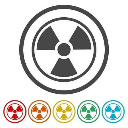 nuke: Radiation Icon Vector, Flat radiation icon
