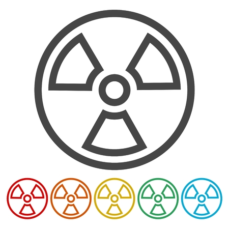 Radiation icon.